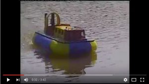 Chris Chattaway's Griffin Hovercraft, remotored.