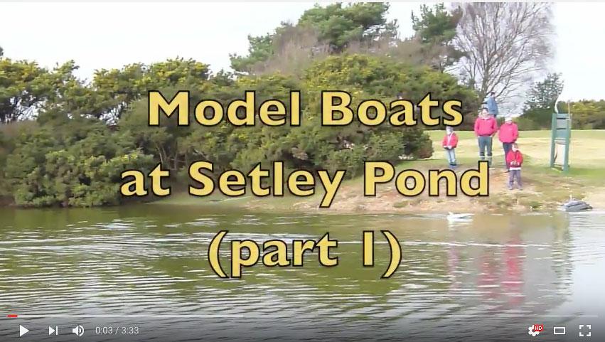 SRCMBC - Model Boats at Setley Pond Part 1