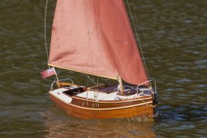 A Shelduck small cruising yacht; model: Roy Metcalfe