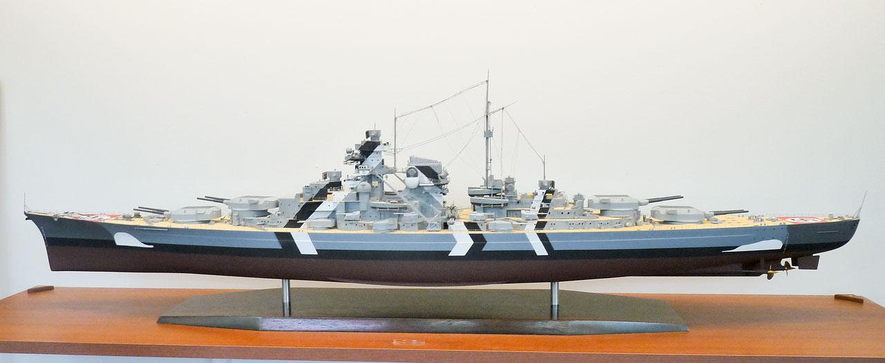 Bismarck static model (via David McNair-Taylor)