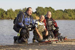 Divers at Setley Pond
