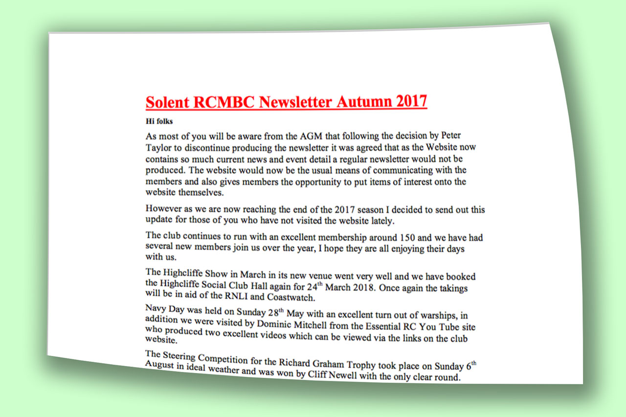 Autumn Newsletter Available