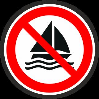 no sailing