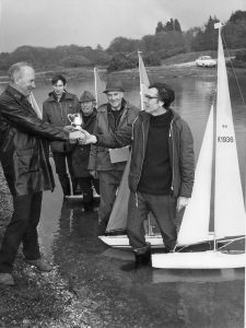 I think is the Southern District RM Championship held at Setley on 24 April 1977, again its David Waugh receiving the Trophy, other than Bod Jefferies, the other people in the photo are unknown to me.