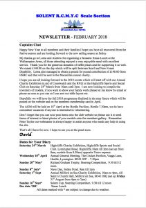 February 2018 Newsletter Published