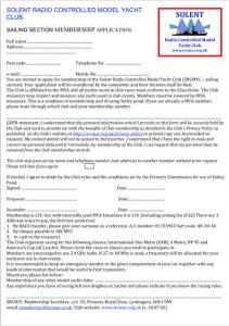 Membership form 2019-2020
