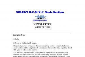 Winter Newsletter 2018