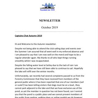 Newsletter October 2019