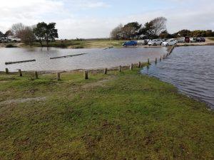 car park flooded