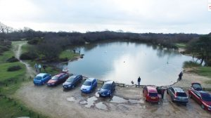 Setley Pond from the Air (January 2016)